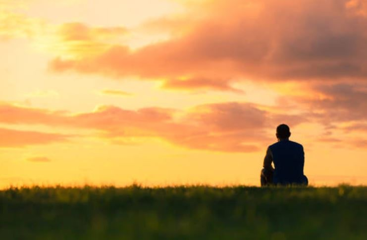 Man Pondering Meaning in Life