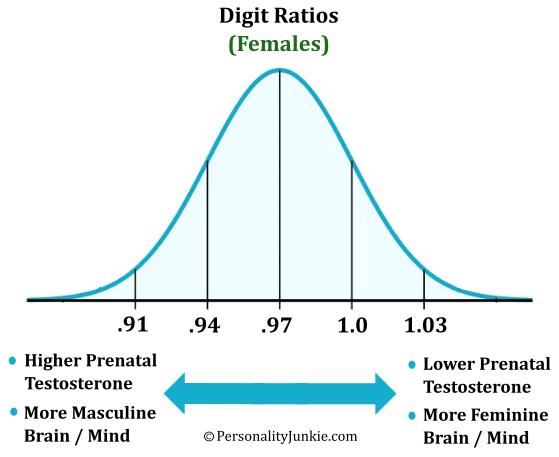 Female Digit Ratio Diagram